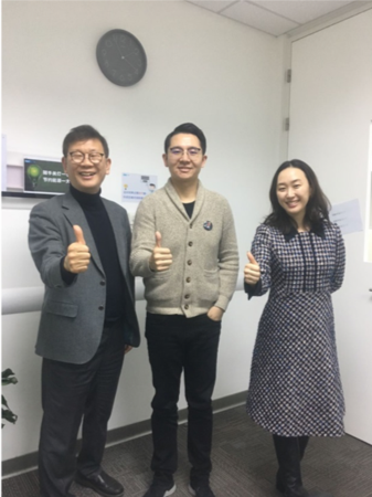 Dr. Phil S Yang visiting Megvii, accompanied by Megvii CEO 印奇