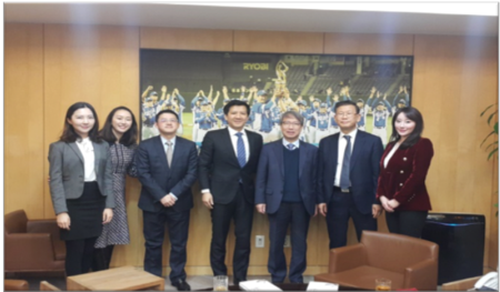 Meeting with Chung Un-chan at Korea Baseball Organization